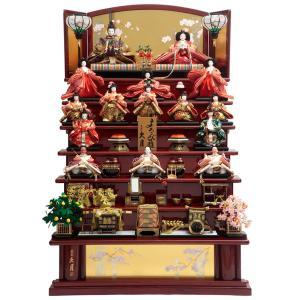 雛人形 久月 ひな人形 雛 七段飾り 十五人飾り よろこび雛 十番親王 小三五揃 久月オリジナル頭 h313-k-7139 K-21 2508-honpo