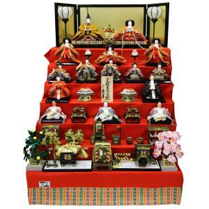 雛人形 久月 ひな人形 雛 七段飾り 十五人飾り 正絹 三五親王 芥子揃 h313-k-7759|2508-honpo
