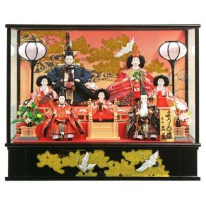 雛人形 久月 ひな人形 雛 ケース飾り 七人飾り よろこび雛 三五親王 柳官女 随身 h313-k-9125 2508-honpo