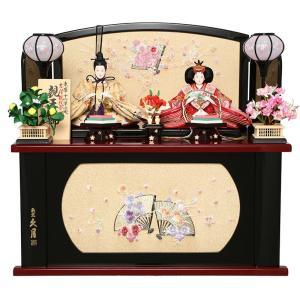 雛人形 久月 ひな人形 コンパクト収納飾り 親王飾り 束帯十二単 小三五 吉祥鶴紋 金襴 h293-kcp-s29176|2508-honpo