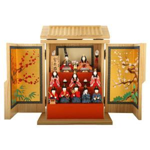 雛人形 真多呂 ひな人形 雛 木目込人形飾り コンパクト収納飾り 十人飾り 宝永雛 賀茂人形 箱飾り 正絹 h293-mimt-2592|2508-honpo