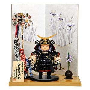 五月人形 コンパクト 吉徳 伊達政宗公 子供大将飾り 武者人形 平飾り 清村好英作 鎧着大将 h035-ys-507133|2508-honpo