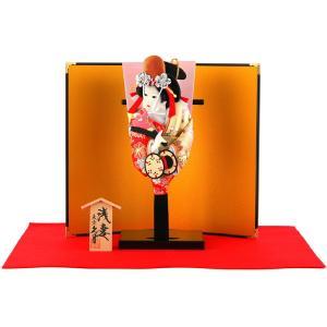 羽子板 久月 お祝い 初正月 コンパクト ミニ 豆羽子板 浅妻 8寸 屏風付 h301-kcp-mame-a-8|2508-honpo