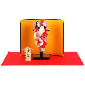 羽子板 久月 お祝い 初正月 コンパクト ミニ 豆羽子板 汐汲 6寸 屏風付 h301-kcp-mame-s-6|2508-honpo
