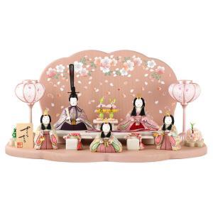 雛人形 一秀 ひな人形 木目込人形飾り 段飾り 五人飾り 木...