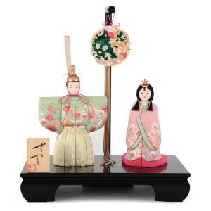 雛人形 一秀 ひな人形 雛 木目込人形飾り 平飾り 親王飾り 立雛 木村一秀作 さくらさくら 入れ目 金彩刺繍 1号 h313-ic-145 2508-honpo