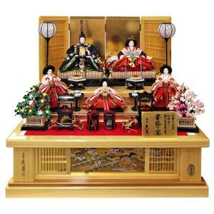 雛人形 久月 ひな人形 雛 段飾り 五人飾り 華節の宴 刺繍...
