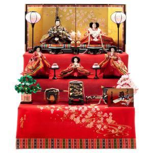 雛人形 久月 ひな人形 雛 三段飾り 五人飾り よろこび雛 小十番親王 小三五官女 h313-k-1209 D-28|2508-honpo