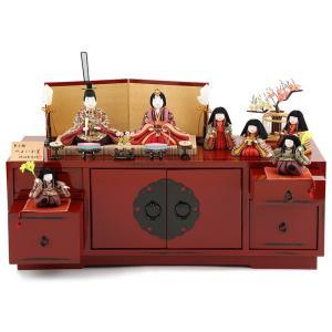 雛人形 柿沼東光 ひな人形 雛 木目込人形飾り 七人飾り 夢小雛 やよい小筺 h303-mi-kt-...