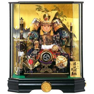 五月人形 久月 子供大将飾り ケース飾り 武者人形 すこやか若大将飾 8号 取付ケース入 アクリルケース オルゴール付 h305-k-t53517 K-118|2508-honpo