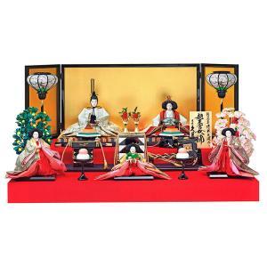 雛人形 久月 ひな人形 雛 段飾り 五人飾り 清水久遊作 七番親王 三五官女 h313-k-1299 K-23|2508-honpo