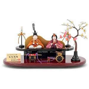 雛人形 飾り方 コンパクト おしゃれ 木目込み 雛 名匠・逸品飾り 柿沼東光 ひなもも h313-mi-kt-340 雛 人形 木目込人形飾り 平飾り モダン 2508-honpo
