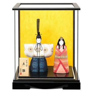 雛人形 真多呂 ひな人形 雛 木目込人形飾り ケース飾り 親王飾り 立雛 真多呂作 古今人形 光明立雛ケース入セット h313-mt-1159|2508-honpo