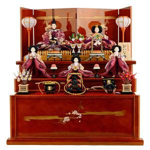 雛人形 飾り方 収納飾り 三段 ひのき 春慶 hs-11-70-3hinoki 雛 人形 コンパクト収納飾り 三段飾り 五人飾り かわいい ひな人形 お雛様 おしゃれ インテリア 2508-honpo
