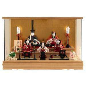 雛人形 一秀 ひな人形 木目込人形飾り ケース飾り 五人飾り...