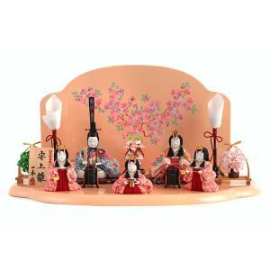 雛人形 一秀 ひな人形 雛 木目込人形飾り 平飾り 五人飾り 木村一秀作 安土雛 15-6号 h313-ii-021 2508-honpo