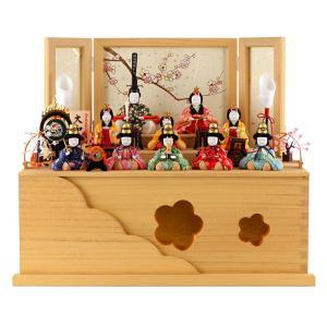 雛人形 一秀 ひな人形 雛 木目込人形飾り コンパクト収納飾り 三段飾り 十人飾り 木村一秀作 大和雛 14号 h313-ik-004|2508-honpo