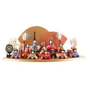 雛人形 一秀 ひな人形 雛 木目込人形飾り 段飾り 十人飾り 木村一秀作 大和雛 14-3号 h293-ik-003|2508-honpo