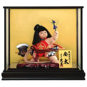 五月人形 久月 金太郎 ケース飾り 浮世人形 熊倉聖祥原作 裸金太 鉞(着付) 8号 賢印8 h035-k-kenin8-702 D-74 2508-honpo