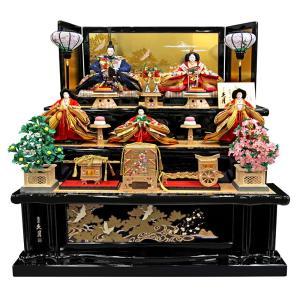 雛人形 久月 ひな人形 雛 三段飾り 五人飾り 麗華雛 西陣...