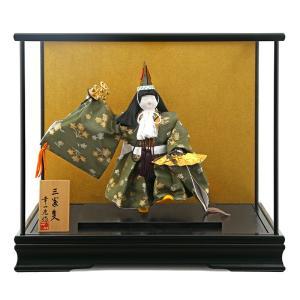 五月人形 武者人形 ケース入り人形 幸一光作 三番叟 桂 6号 koi-19051|2508-honpo
