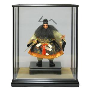 五月人形 幸一光 松崎人形 武者人形 ケース飾り 五寸 鍾馗 黒カブセ面取ケース h305-koi-524k|2508-honpo
