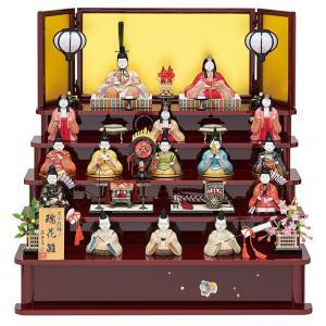 雛人形 真多呂 ひな人形 木目込人形飾り 五段飾り 十五人飾り 真多呂作 古今段飾り 瑞花雛 15人揃 h303-mt-1318|2508-honpo