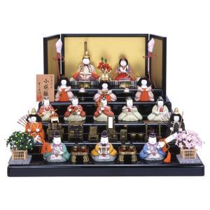 ひな人形 雛人形 幸一光 五段飾り 十五人飾り 木目込み h243-mi-ko-kozakura15|2508-honpo