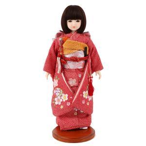 ドールファン必見 遊べるお人形 球体関節人形 aya 着物セット 正絹 赤絞り 桜に鞠 刺繍 ショートボブ(レッドブラウン) スタンド付 mimy-a-brsb-jaw20|2508-honpo
