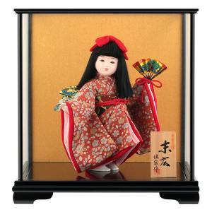 雛人形 ひな人形 雛 ケース飾り 浮世人形 佳宗作 末広 衣裳 正絹 sk-0229e