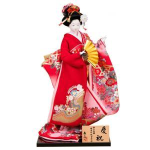 日本人形 尾山人形 人形単品 寿喜代作 熊倉聖祥原作 極上本頭 慶祝 正絹 片袖金彩 12号 sk-gokujo372|2508-honpo