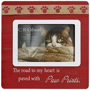 The Road To My Heart Is Paved With Paw Prints ~ Picture Frame ~ Wooden ~ Puppy Dog or Cat ~ 正規輸入品