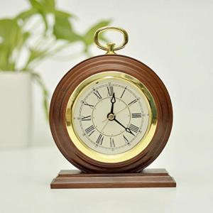 置き時計  ECVISION Silent Vintage Handmade Wood Alarm ...