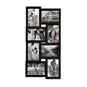 Black Wood Wall Array Puzzle Collage Picture Frame...