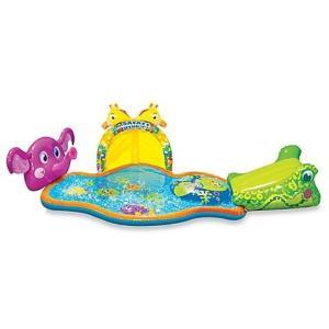スプリッシュ スプラッシュ サファリ バンザイ ジュニア マルチ インフレータブル水スライド l クールなあなたの小さな子供のための楽しみのさわやかな