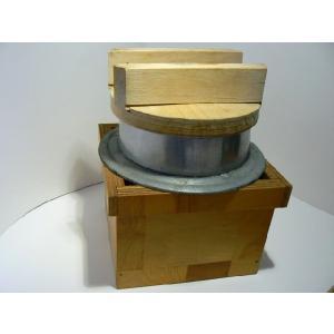 古道具 アルミ製つば釜 中古 蓋、台付き かまど炊き用|25dou