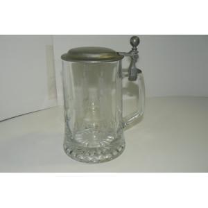 蓋付きガラス製ビアマグ イタリア製 中古|25dou