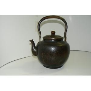 山川堂 古い銅の絵入り水差 中古 長期保管品|25dou