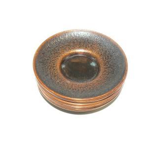 古い銅の茶托 10枚 中古 1枚目立つ緑青 長期保管品|25dou