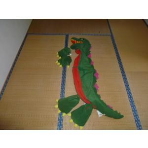 トヨタカローラ店「ゴジラ変身キット」です。珍しいゴジラの簡易的な着ぐるみです。