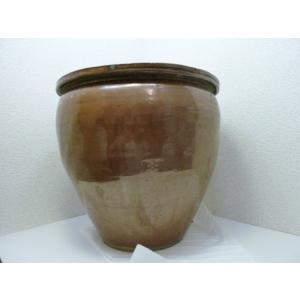 大きい茶色の水瓶 中古|25dou