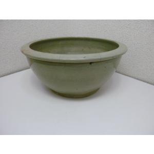 古道具 薄緑色のこね鉢 中古|25dou