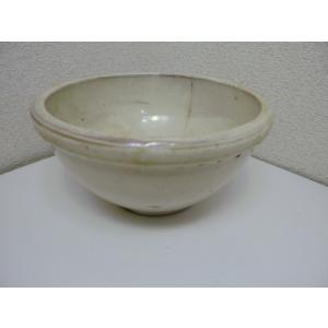 古道具 白色のこね鉢 中古|25dou