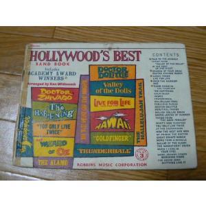 1968年 HOLLY WOOD'S BEST BAND BOOK Drums 中古|25dou