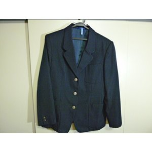 スクールタイガー 青森市南中学校 女子制服紺ブレザー サイズLL 中古 業者クリーニング済み|25dou