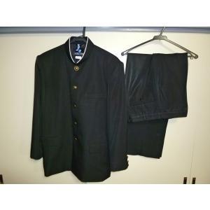 スクールタイガー ラウンドカラー黒学生服(学ラン)175A 上下セット 中古 襟にダメージあり 業者クリーニング済み|25dou