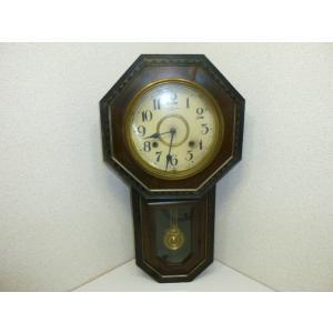 アンティーク 八角柱時計 AICHIKEN CLOCK MAKERS'UNIONS MARK 動作未確認・現状売り|25dou