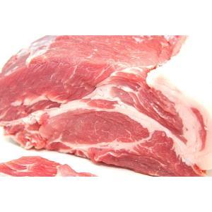 【量り売り】業務用北海道産豚肩ロース1本ブロック(1280円/kg) ※送料にご注意ください※|2983