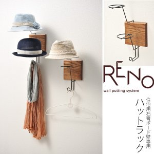 壁掛け帽子ハンガー RENO リノ  ねじ付 キャップハンガー キャップ 帽子 ハット ハンチング|2e-unit
