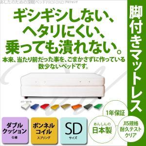 ダブルクッション ベッド ベット ボンネルコイル セミダブル  PROFONDシリーズ   送料無料 2e-unit